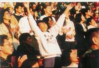 Crowd Praising God